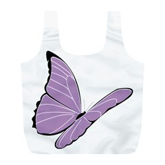 Purple Awareness Butterfly 2 Reusable Bag (L)