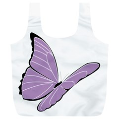 Purple Awareness Butterfly 2 Reusable Bag (xl)