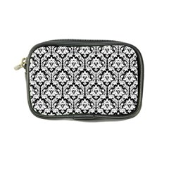 White On Black Damask Coin Purse