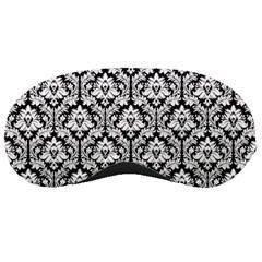 Black & White Damask Pattern Sleeping Mask