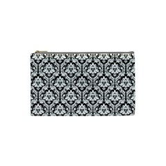 Black & White Damask Pattern Cosmetic Bag (small)