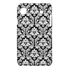 White On Black Damask Samsung Galaxy S i9008 Hardshell Case