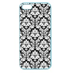 White On Black Damask Apple Seamless Iphone 5 Case (color)