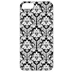 White On Black Damask Apple Iphone 5 Classic Hardshell Case