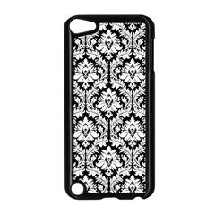 White On Black Damask Apple iPod Touch 5 Case (Black)