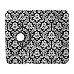White On Black Damask Samsung Galaxy S  III Flip 360 Case