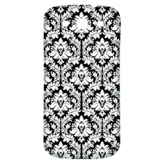 White On Black Damask Samsung Galaxy S3 S Iii Classic Hardshell Back Case