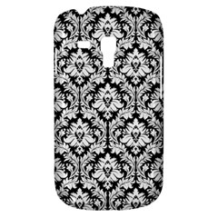 White On Black Damask Samsung Galaxy S3 Mini I8190 Hardshell Case
