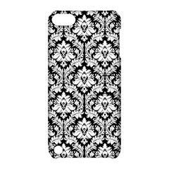 White On Black Damask Apple iPod Touch 5 Hardshell Case with Stand