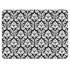 White On Black Damask Samsung Galaxy Tab 7  P1000 Flip Case