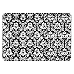 White On Black Damask Samsung Galaxy Tab 8 9  P7300 Flip Case