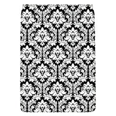White On Black Damask Removable Flap Cover (Large)