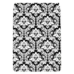 White On Black Damask Removable Flap Cover (small)