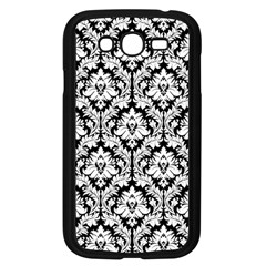 White On Black Damask Samsung Galaxy Grand DUOS I9082 Case (Black)