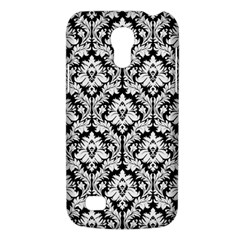 White On Black Damask Samsung Galaxy S4 Mini (GT-I9190) Hardshell Case
