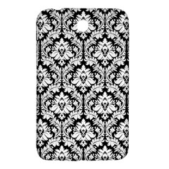 White On Black Damask Samsung Galaxy Tab 3 (7 ) P3200 Hardshell Case