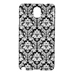 White On Black Damask Samsung Galaxy Note 3 N9005 Hardshell Case