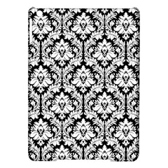 White On Black Damask Apple Ipad Air Hardshell Case