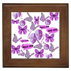 Invisible Illness Collage Framed Ceramic Tile
