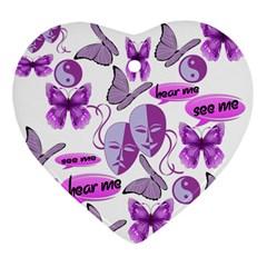Invisible Illness Collage Heart Ornament