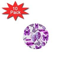 Invisible Illness Collage 1  Mini Button (10 pack)