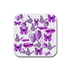 Invisible Illness Collage Drink Coasters 4 Pack (Square)