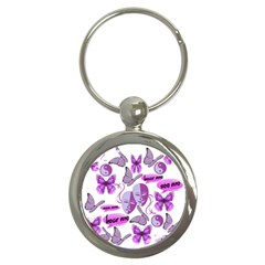 Invisible Illness Collage Key Chain (Round)