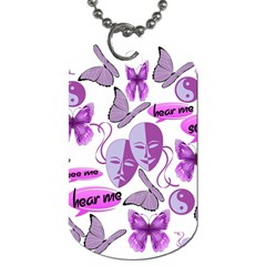 Invisible Illness Collage Dog Tag (one Sided)