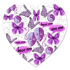 Invisible Illness Collage Jigsaw Puzzle (Heart)