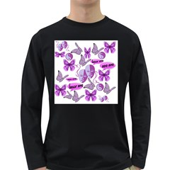 Invisible Illness Collage Men s Long Sleeve T-shirt (Dark Colored)
