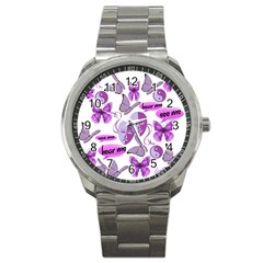 Invisible Illness Collage Sport Metal Watch