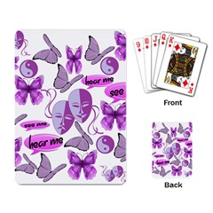 Invisible Illness Collage Playing Cards Single Design