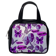 Invisible Illness Collage Classic Handbag (One Side)