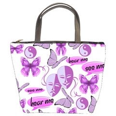 Invisible Illness Collage Bucket Handbag