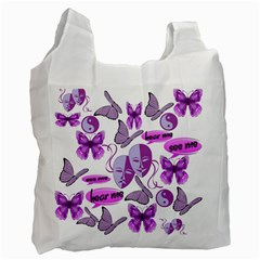Invisible Illness Collage White Reusable Bag (Two Sides)