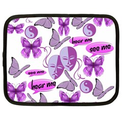 Invisible Illness Collage Netbook Sleeve (xxl)