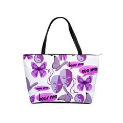 Invisible Illness Collage Large Shoulder Bag