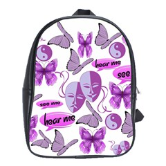 Invisible Illness Collage School Bag (Large)