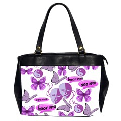 Invisible Illness Collage Oversize Office Handbag (two Sides)