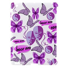 Invisible Illness Collage Apple Ipad 3/4 Hardshell Case (compatible With Smart Cover)