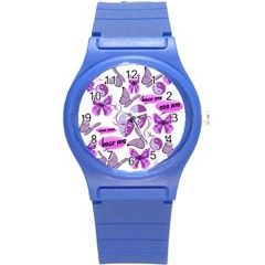 Invisible Illness Collage Plastic Sport Watch (Small)