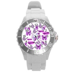 Invisible Illness Collage Plastic Sport Watch (Large)