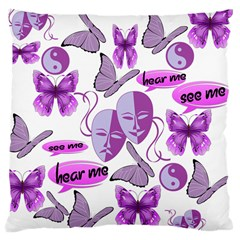 Invisible Illness Collage Large Cushion Case (Single Sided)