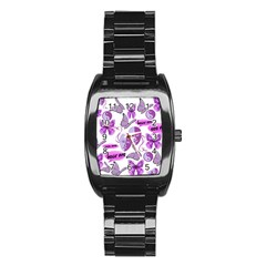 Invisible Illness Collage Stainless Steel Barrel Watch