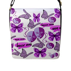 Invisible Illness Collage Flap Closure Messenger Bag (Large)
