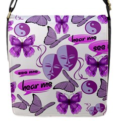 Invisible Illness Collage Flap Closure Messenger Bag (Small)