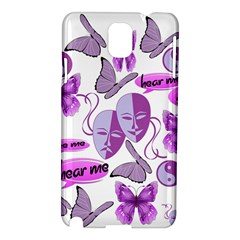 Invisible Illness Collage Samsung Galaxy Note 3 N9005 Hardshell Case