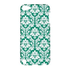 White On Emerald Green Damask Apple iPod Touch 5 Hardshell Case