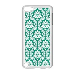 White On Emerald Green Damask Apple Ipod Touch 5 Case (white)