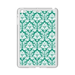 White On Emerald Green Damask Apple Ipad Mini 2 Case (white)